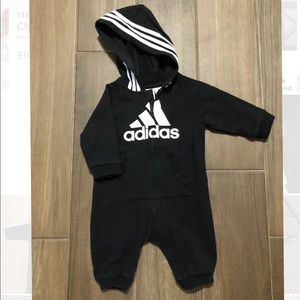 Baby Adidas Logo Hooded Coverall